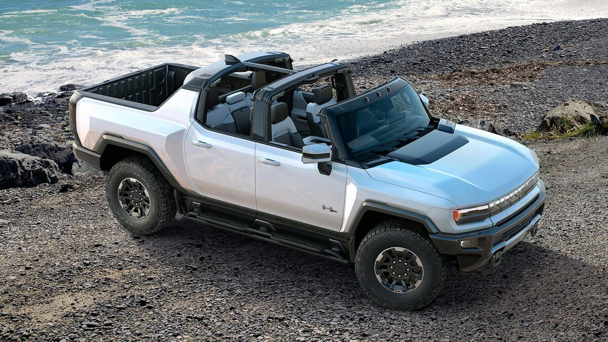 GMC Hummer EV without roof open top
