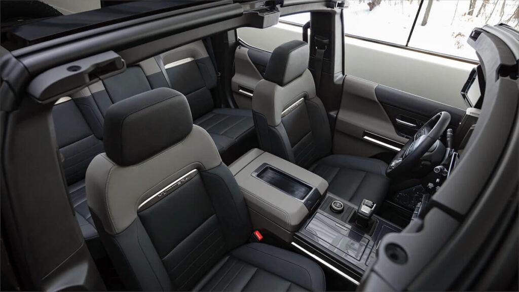 GMC Hummer EV leather seats