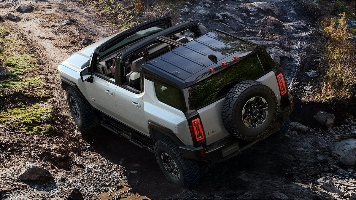 GMC Hummer EV spare tire