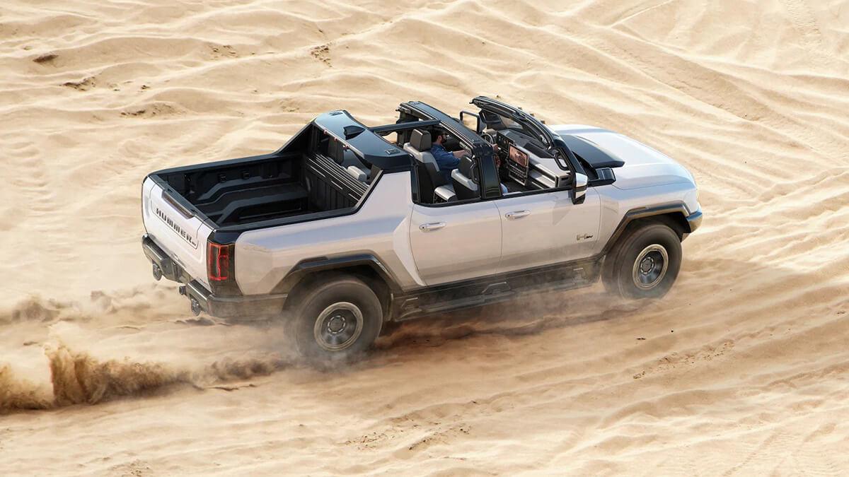 GMC Hummer EV without roof truck