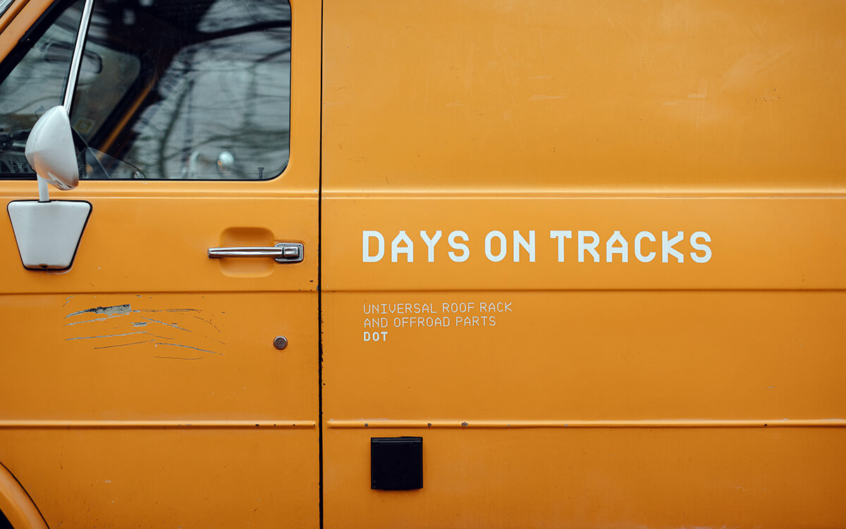 Days on tracks van project and off-road parts