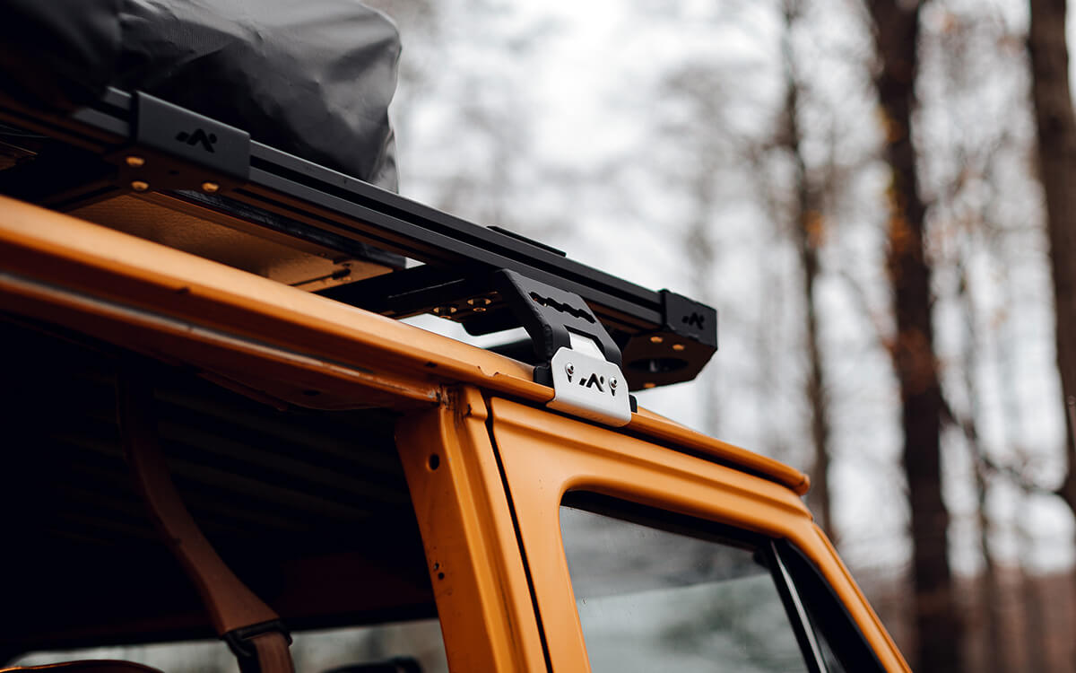 Days on tracks roof rack mounting system
