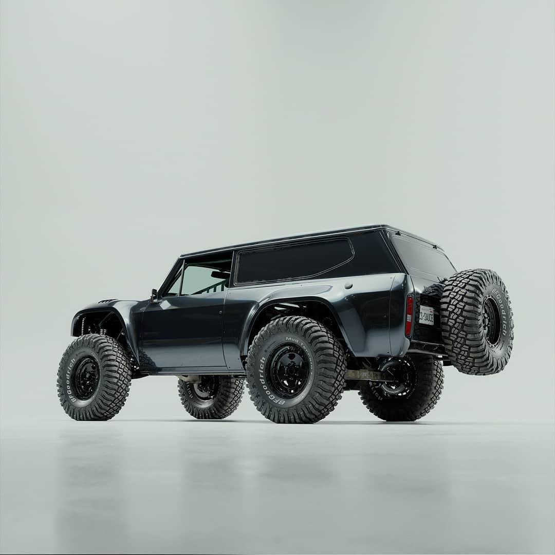 Lifted International Scout II baja truck