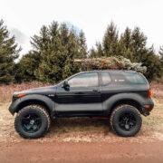 Isuzu Vehicross 3 inch lift 33 inch mud tires