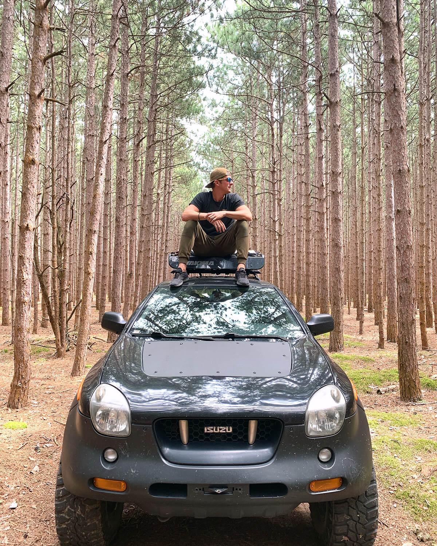 isuzu vehicross wheeling in forest