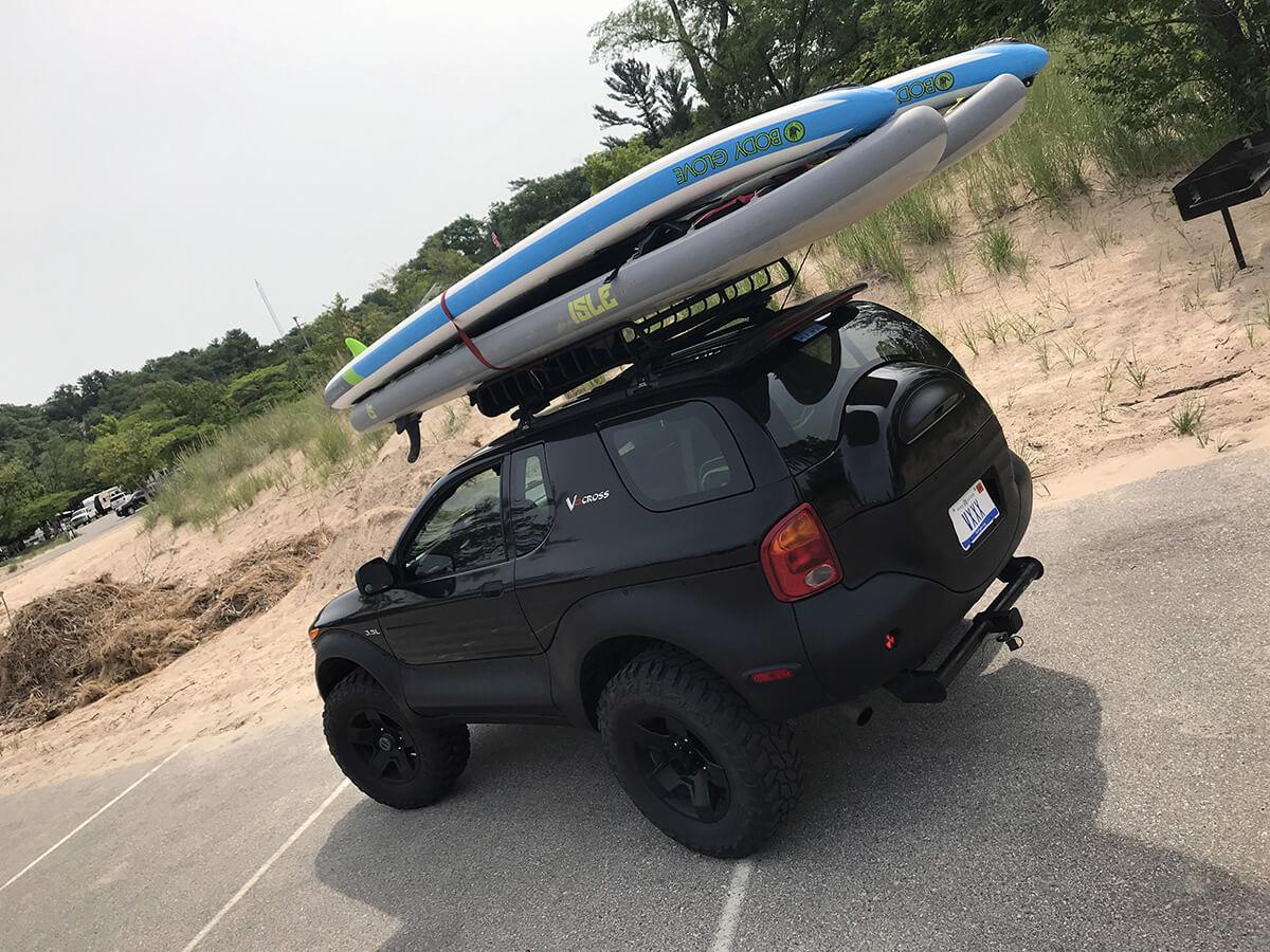 Black isuzu vehicross offroad build