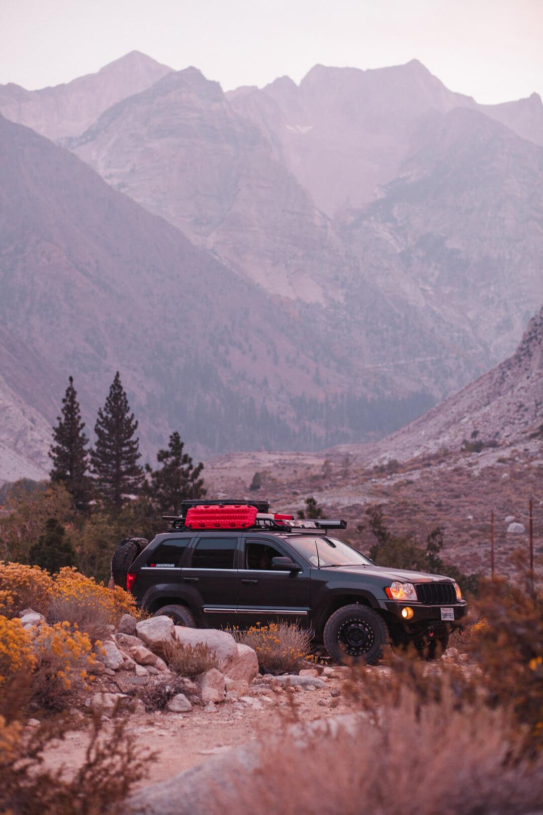 Jeep Grand Cherokee WK1 overlanding
