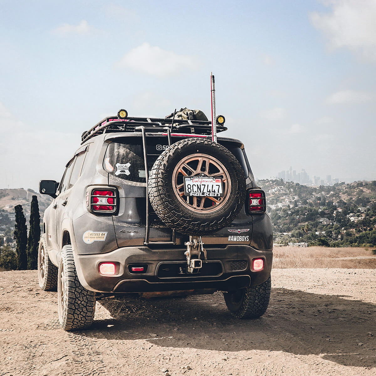 Jeep Renegade Hitch and spare tire carrier