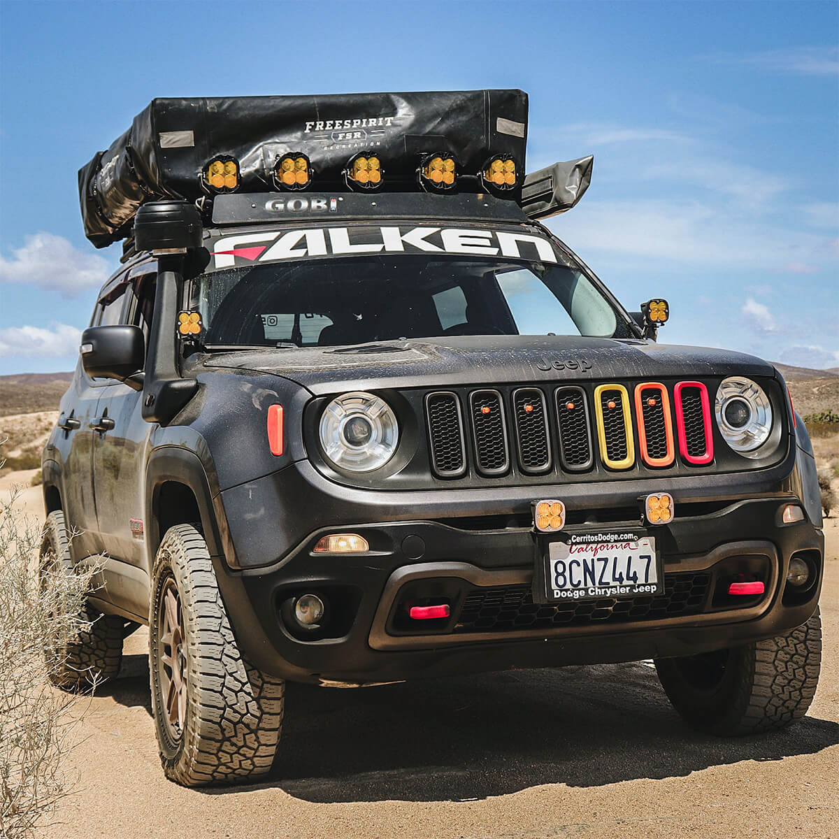 Jeep Renegade overland off-road build
