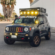 Lifted Jeep Renegade with off-road modifications