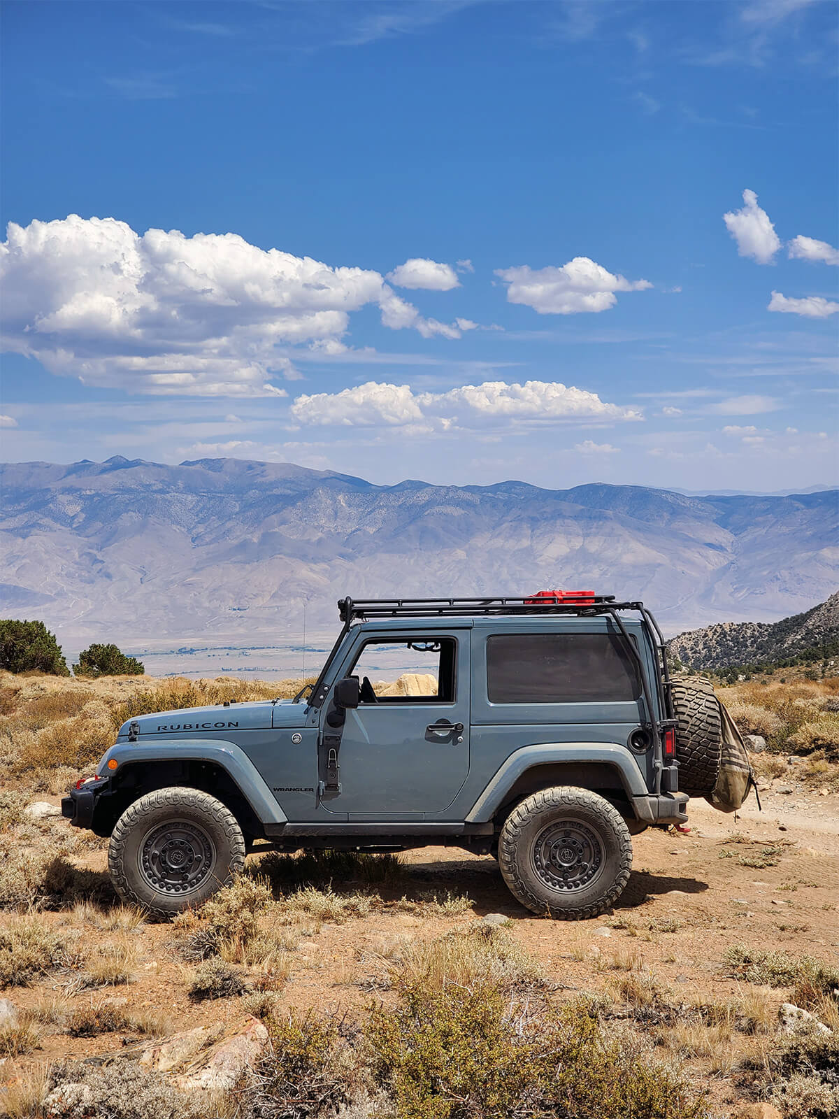 Jeep Wrangler Rubicon JK with a colormatched hardtop