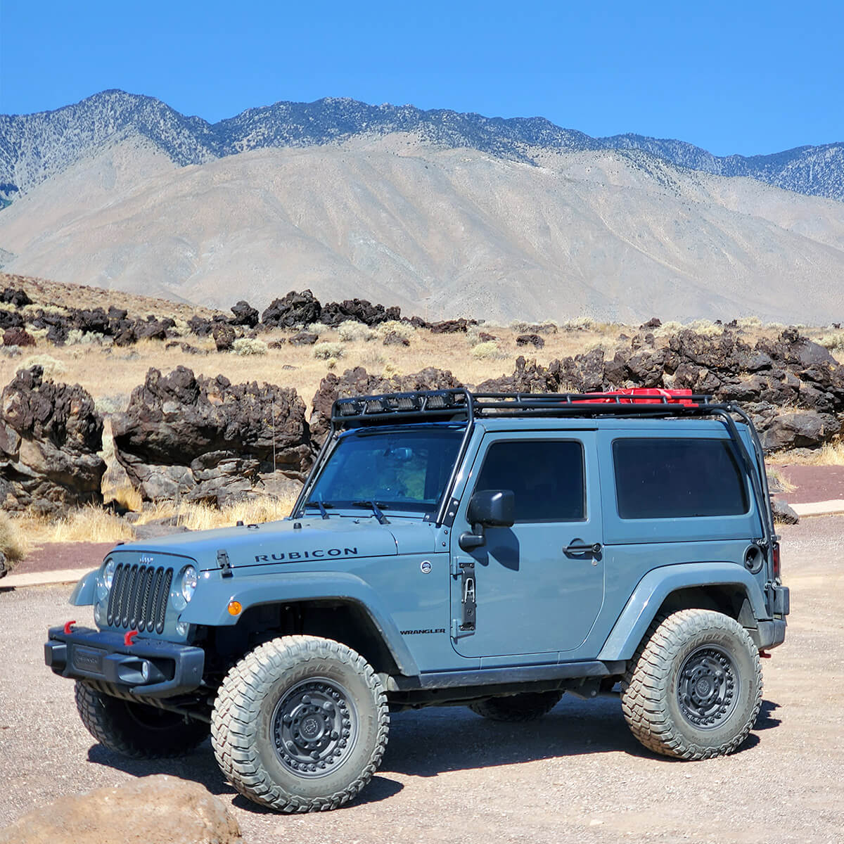 Jeep Wrangler JK Rubicon Gobi stealth roof rack