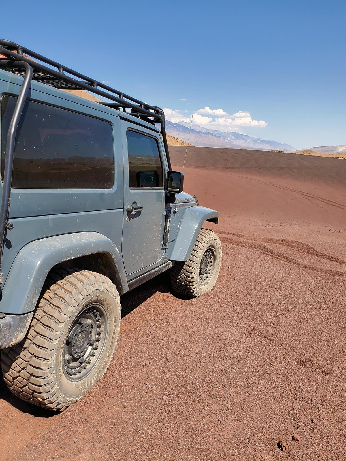 R17 33's BFGoodrich km3 mud terrains tires with black rhino Armory rims on gunblack color