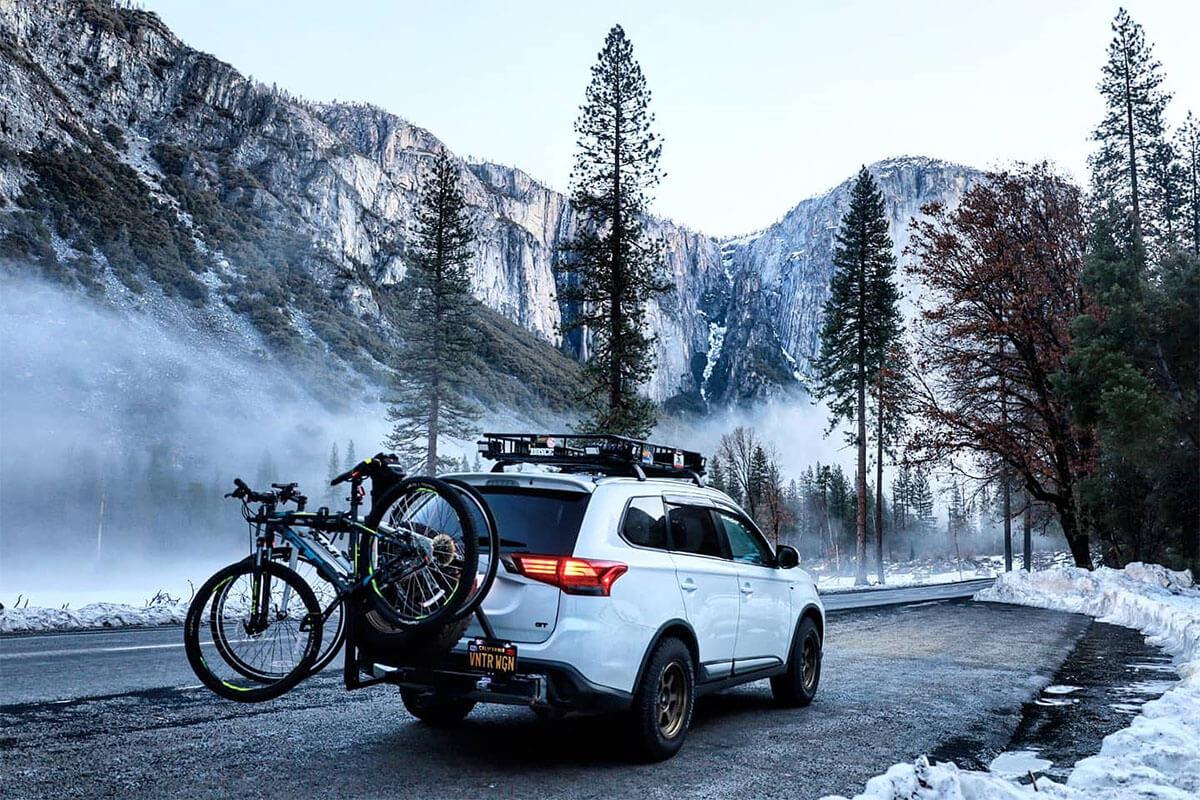 Mitsubishi Outlander bike carrier and a cargo rack