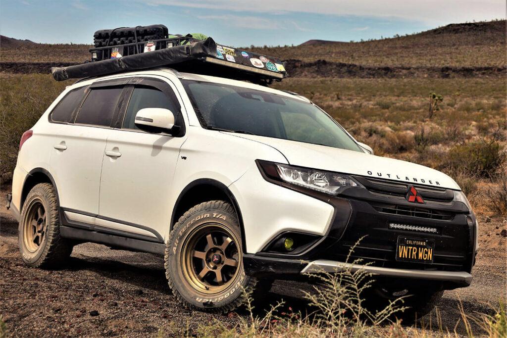 Mitsubishi Outlander BFG KO 245/70/16 A/T tires and 16x8 rims