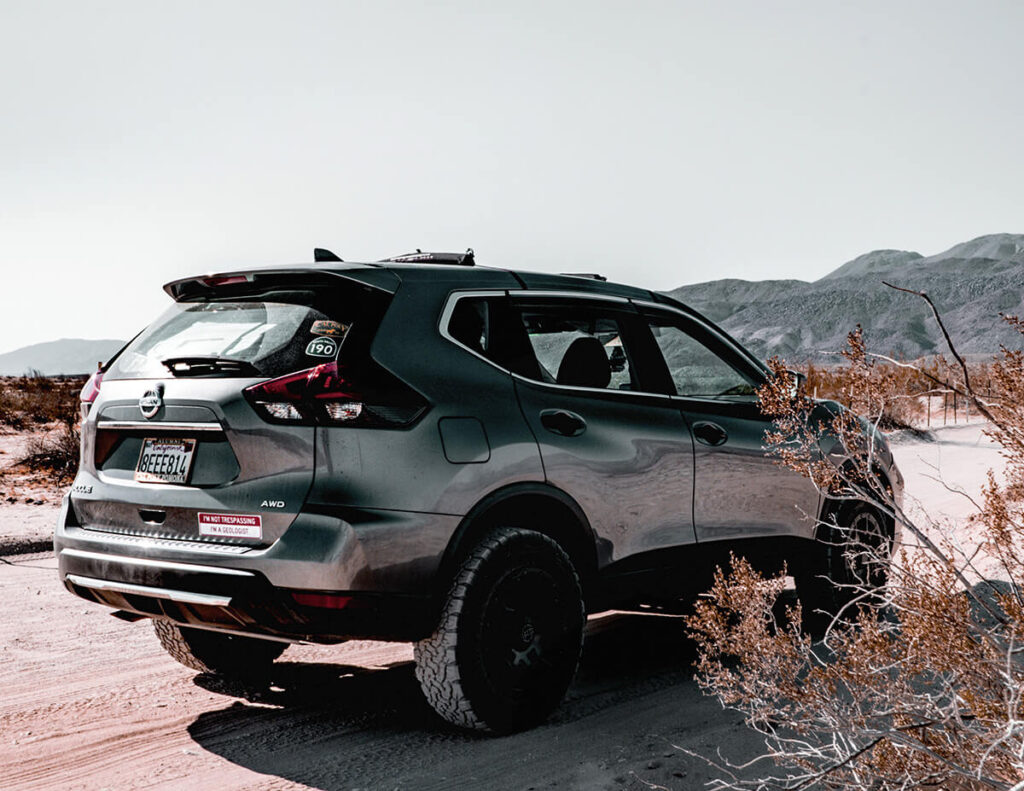 Nissan Rogue offroading
