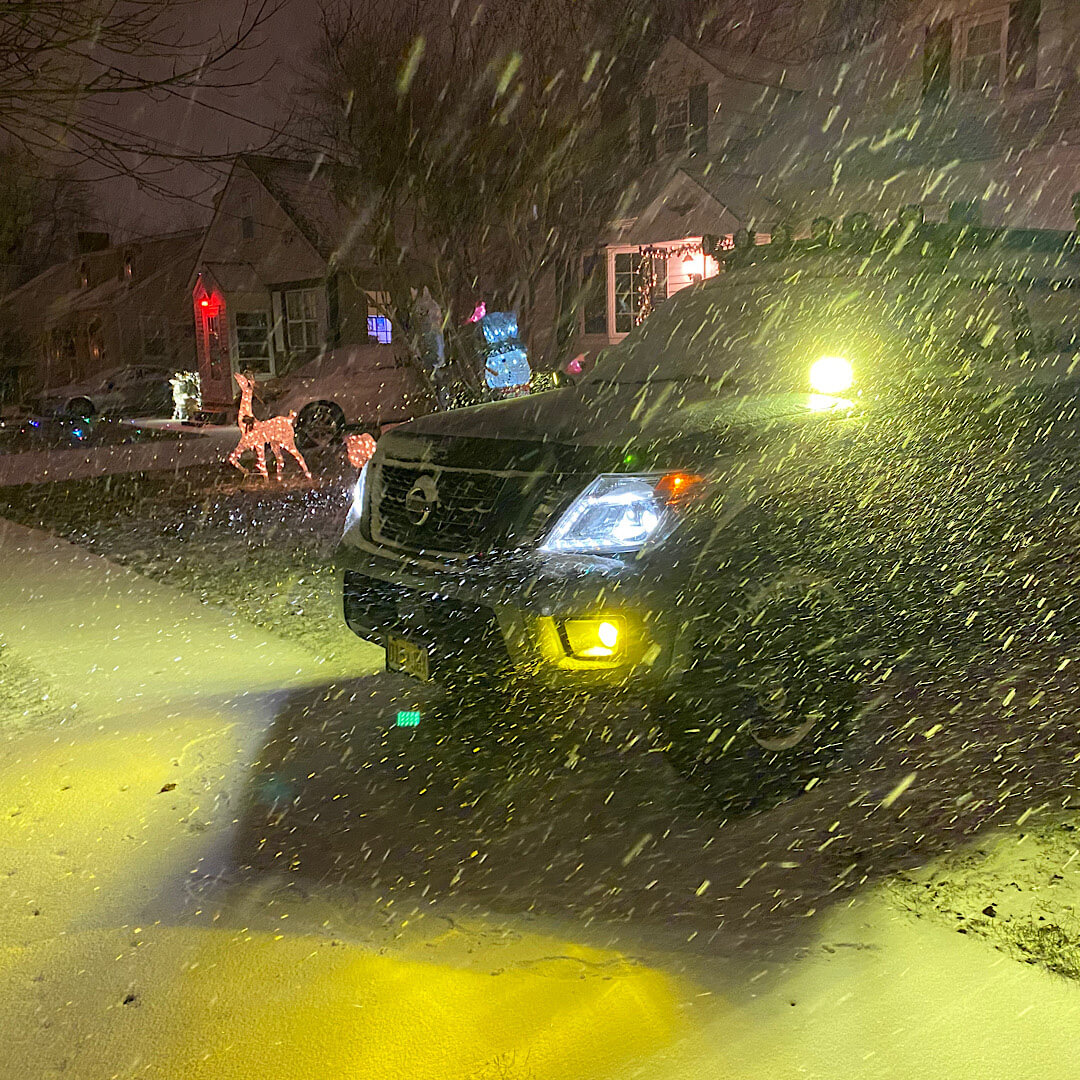 LED lights and yellow fogs