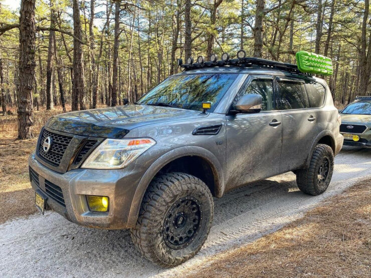 Lifted 2017 Nissan Armada with off-road mods