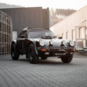 Lifted Porsche 911 with mud tires