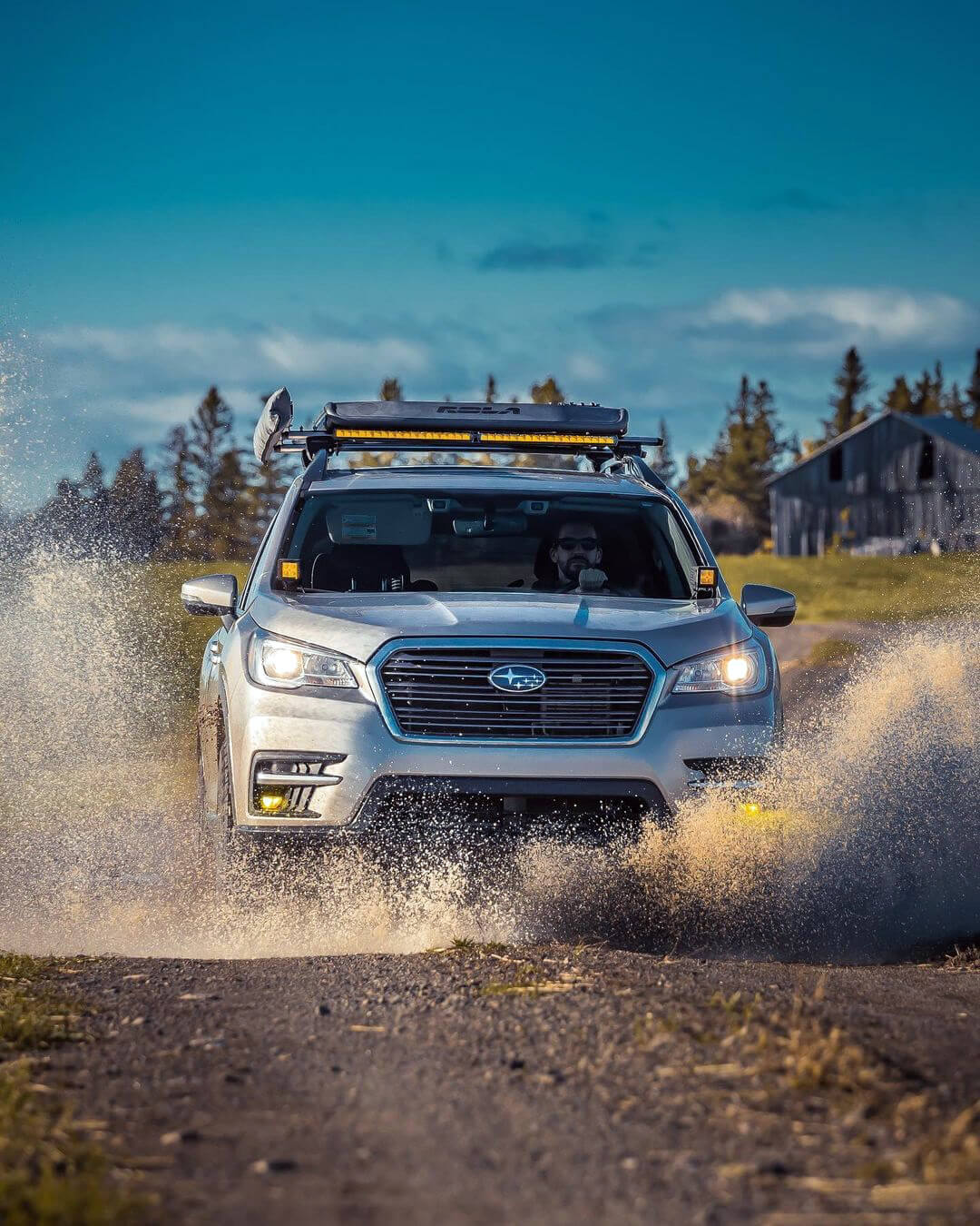 Lifted Subaru Ascent overland off-road project