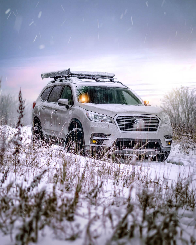 Subaru Ascent in the snow