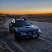Subaru Baja black with Off-road wheels