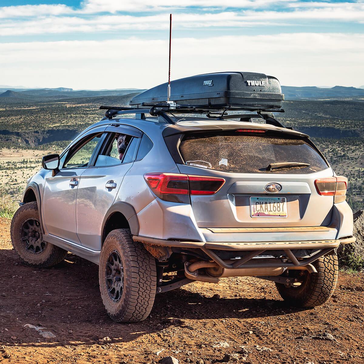 Subaru crosstrek tubular rear off-road bumper