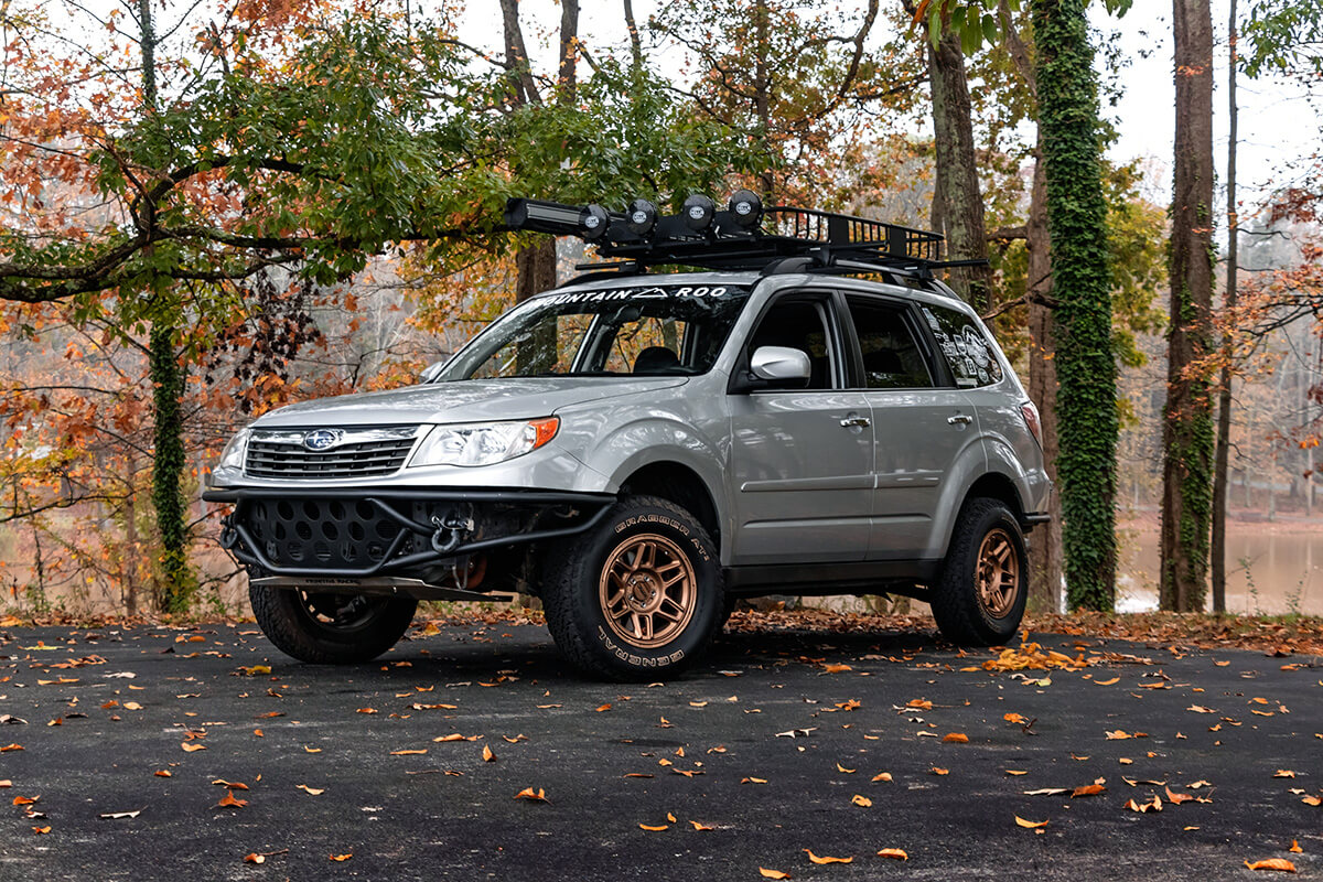 Subaru forester modified for off-roading