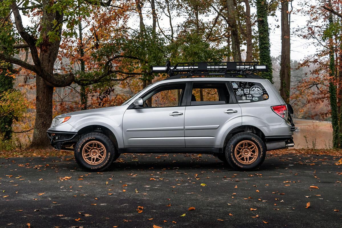 Anderson Design Fab 3 inch lift got Subaru Forester