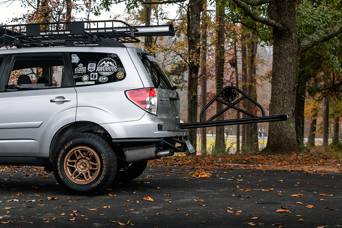 Subaru Forester Swing out spare tire carrier