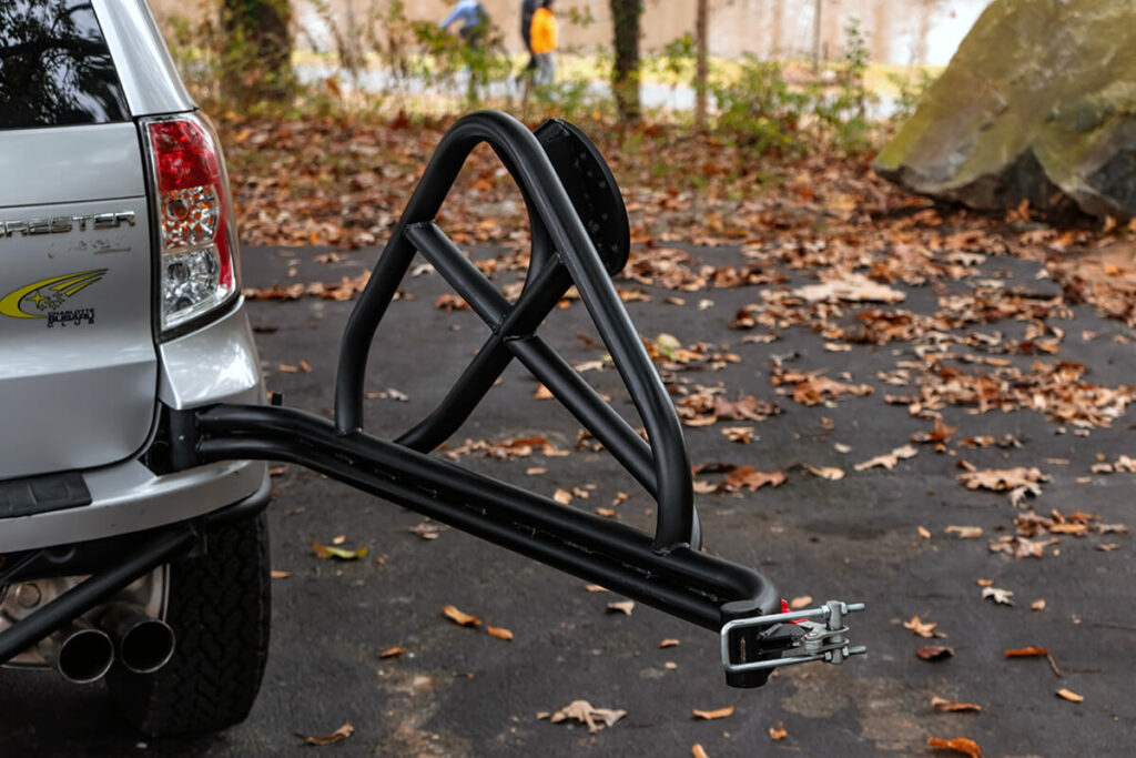 Subaru Forester Swing out spare tire carrier by TRF custom built