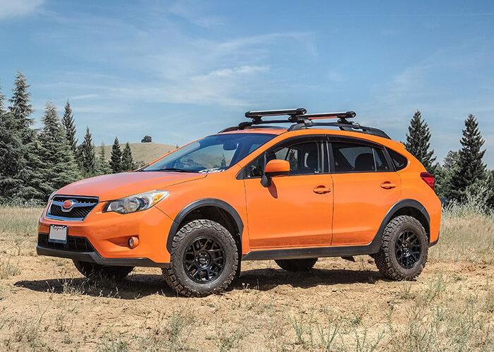 subaru crosstrek 13-17 lift kit on car