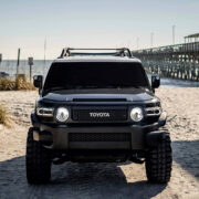 Blacked Out Toyota FJ Cruiser With Mid Travel Suspension
