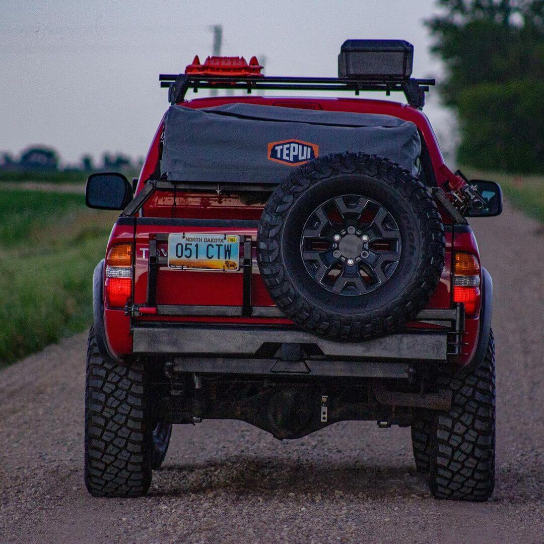 1st Gen Toyota Tacoma DIY rear bumper with tire swing