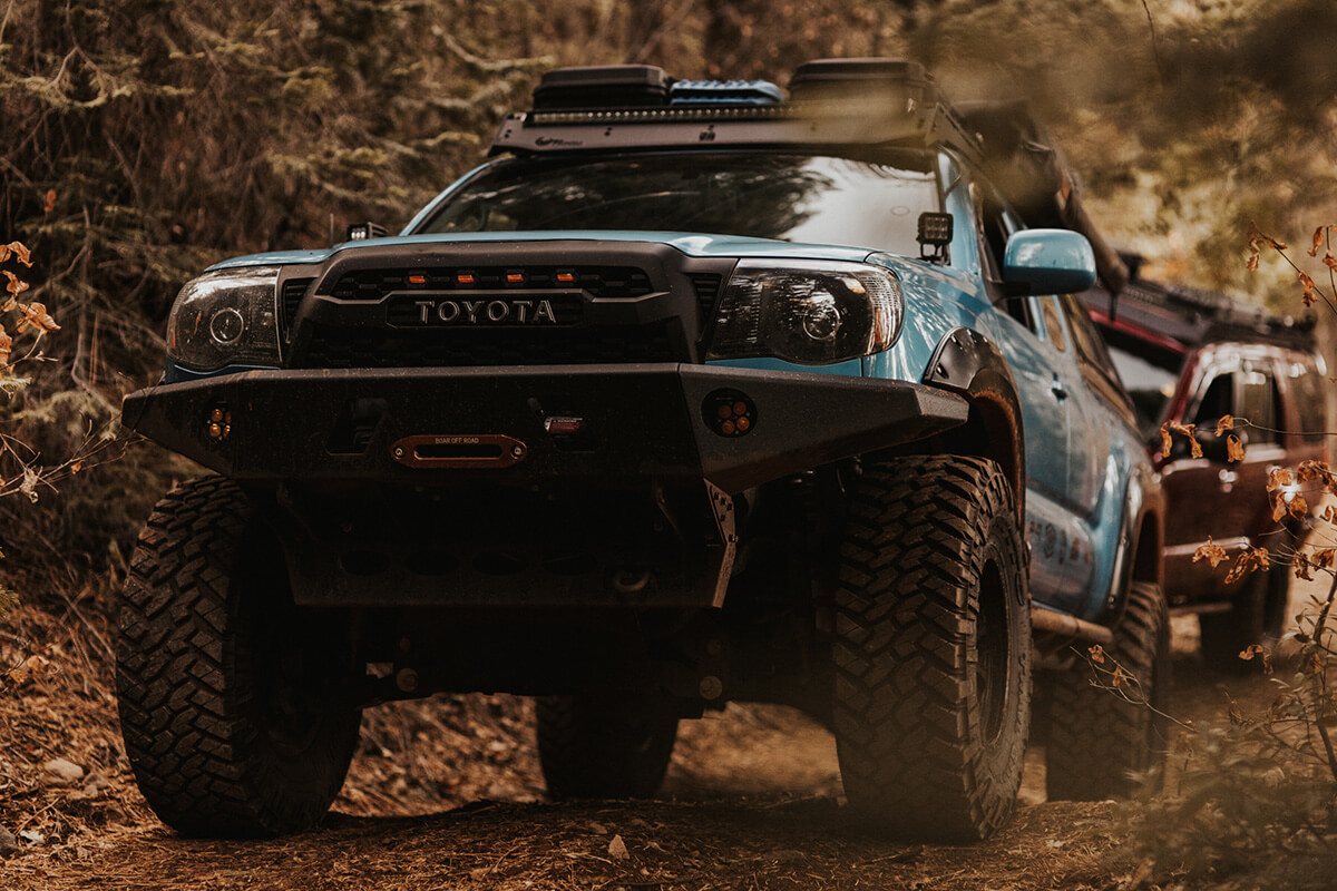 Toyota Tacoma 3rd gen with a winch mount bumper