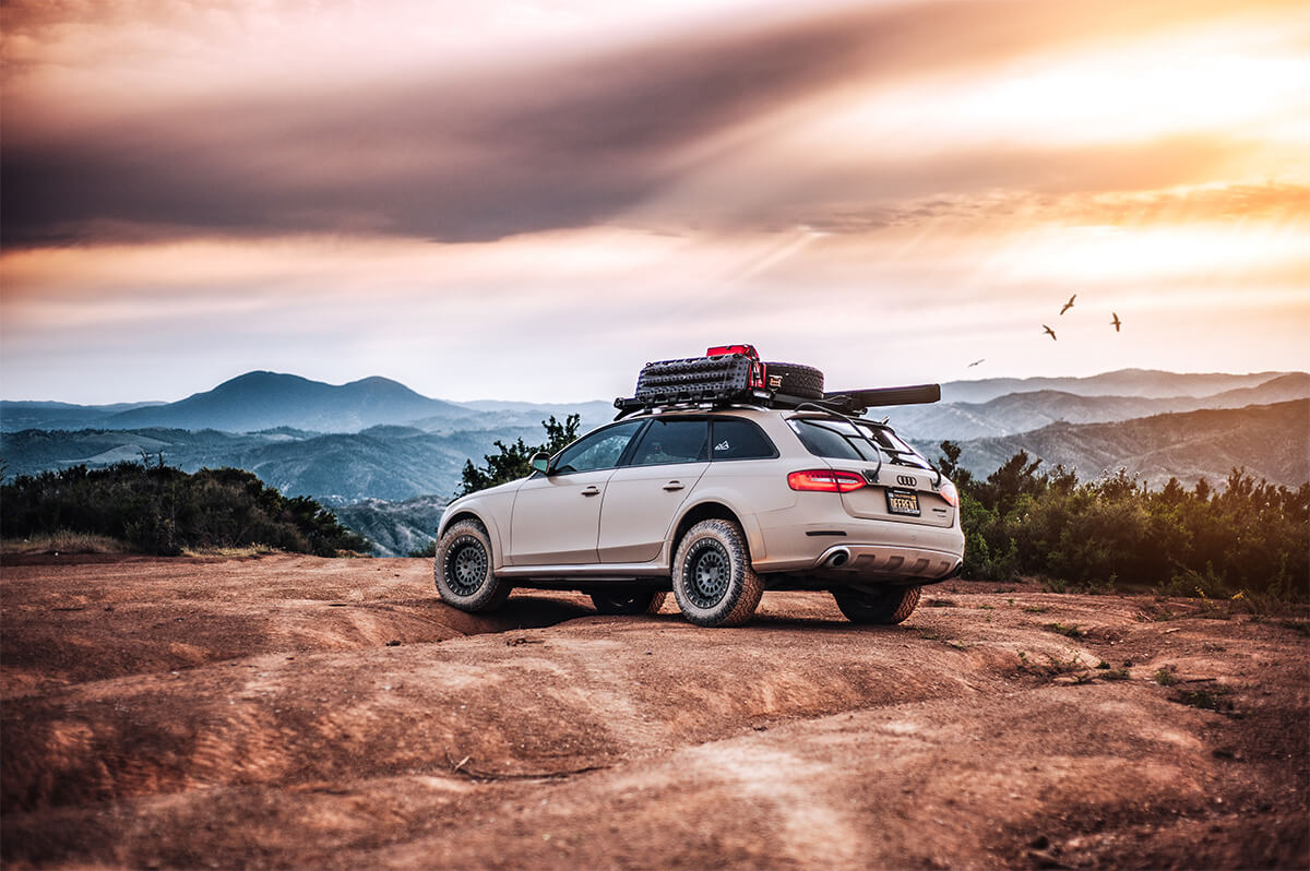 Lifted Audi Allroad a4 battle wagon with offroad wheels