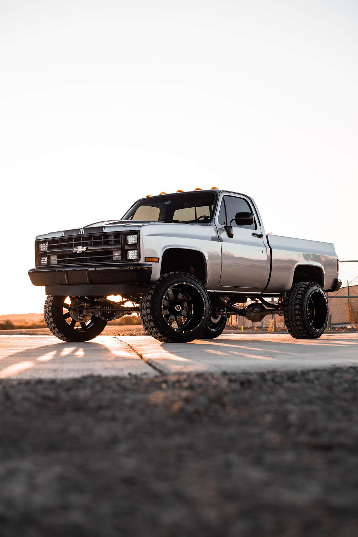 Lifted Square body chevy truck
