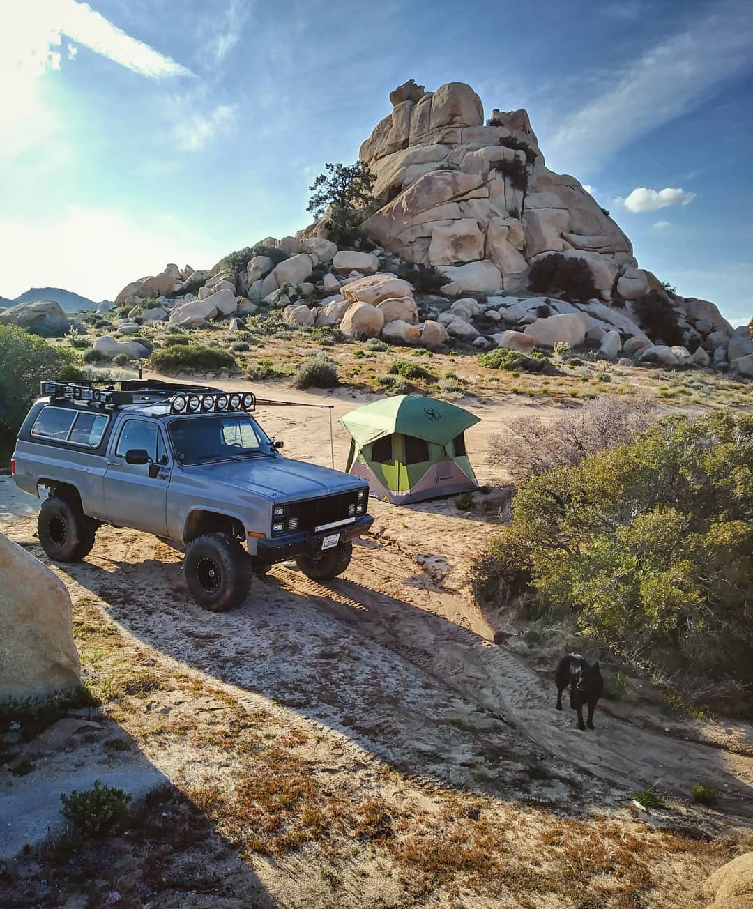 Camping with classic 4x4