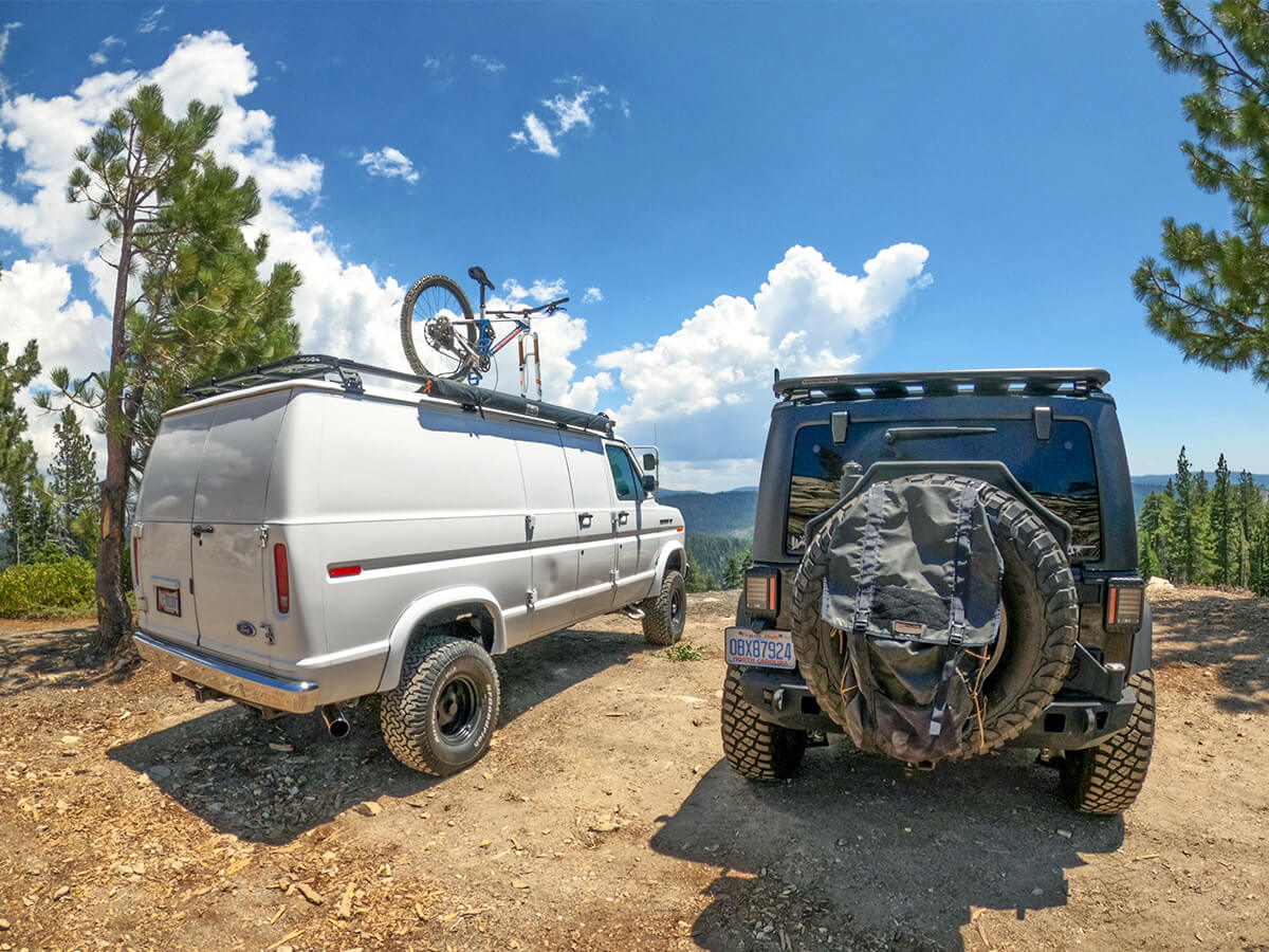 White Lifted Ford E150 overland van project for Off-road adventures