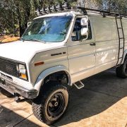 1990 Ford E150 3 inch lift and BFG KO 33×12.5 Off-road tires
