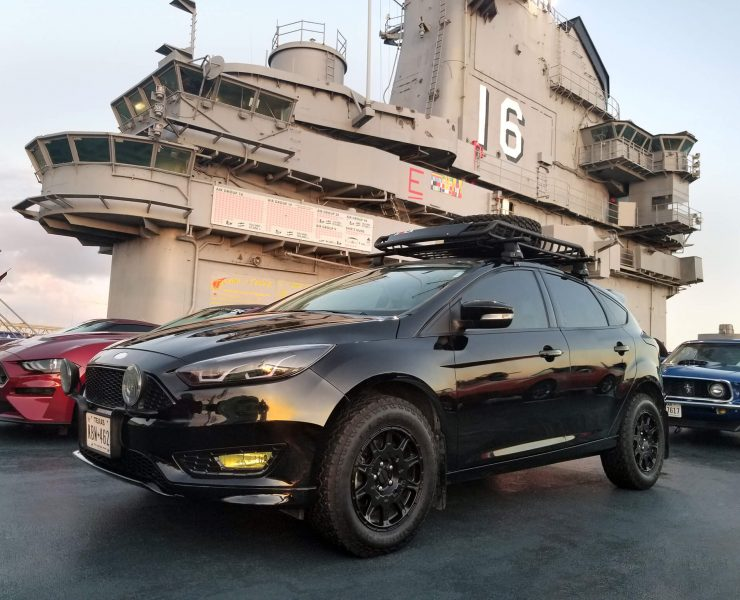 Lifted Ford Focus Overland project with a 3 inch lift
