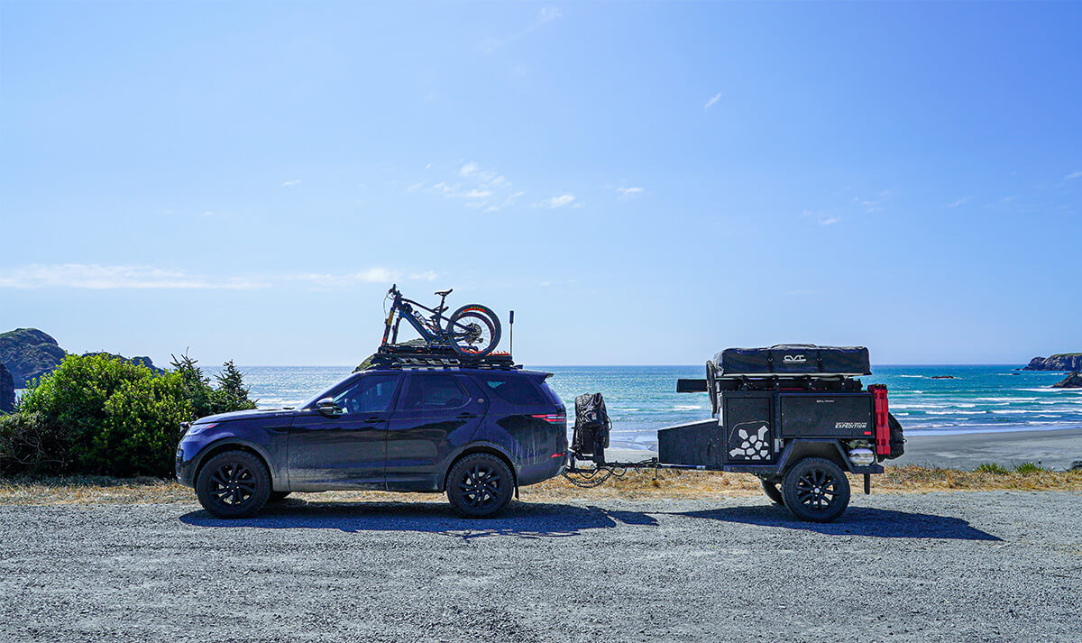 Overland travel with a small trailer