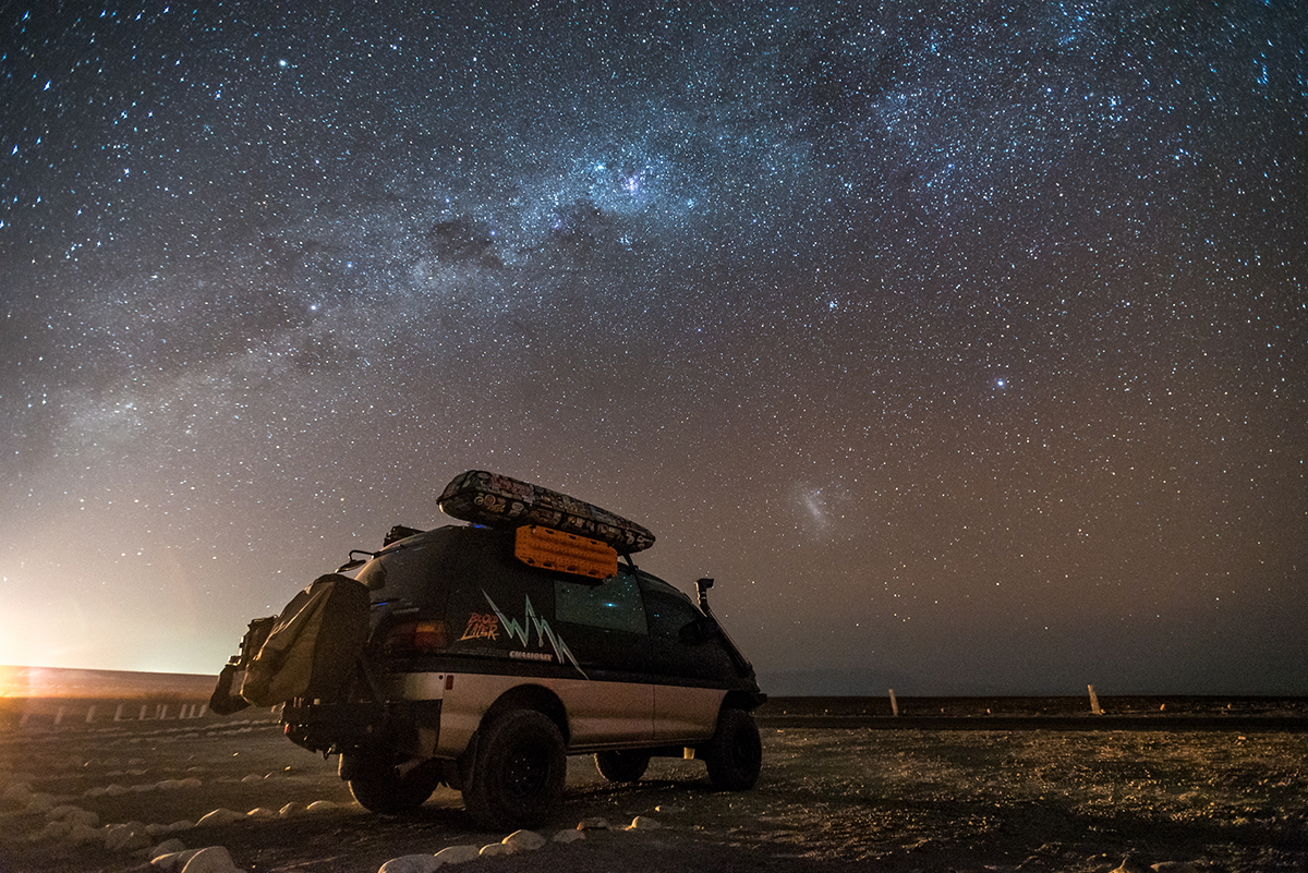 Mitsubishi Delica L400 Overland - sleeping in a van