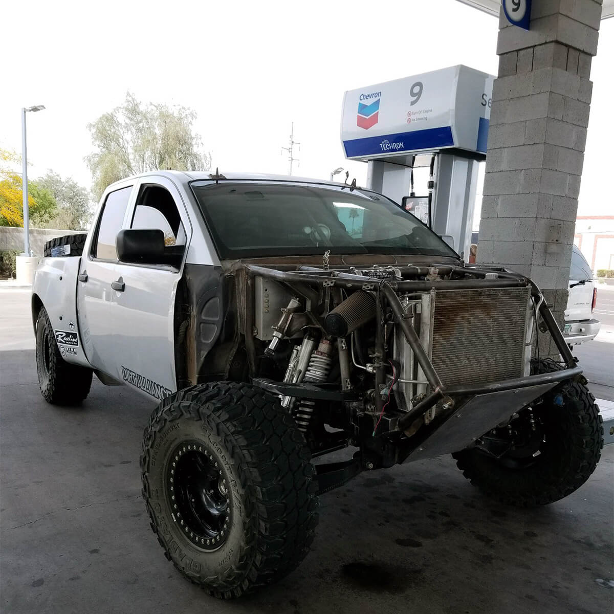 Nissan Titan Pre runner fully custom front end with long travel suspension setup