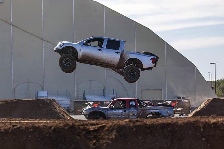 Chevy LS swapped Nissan Titan Prerunner