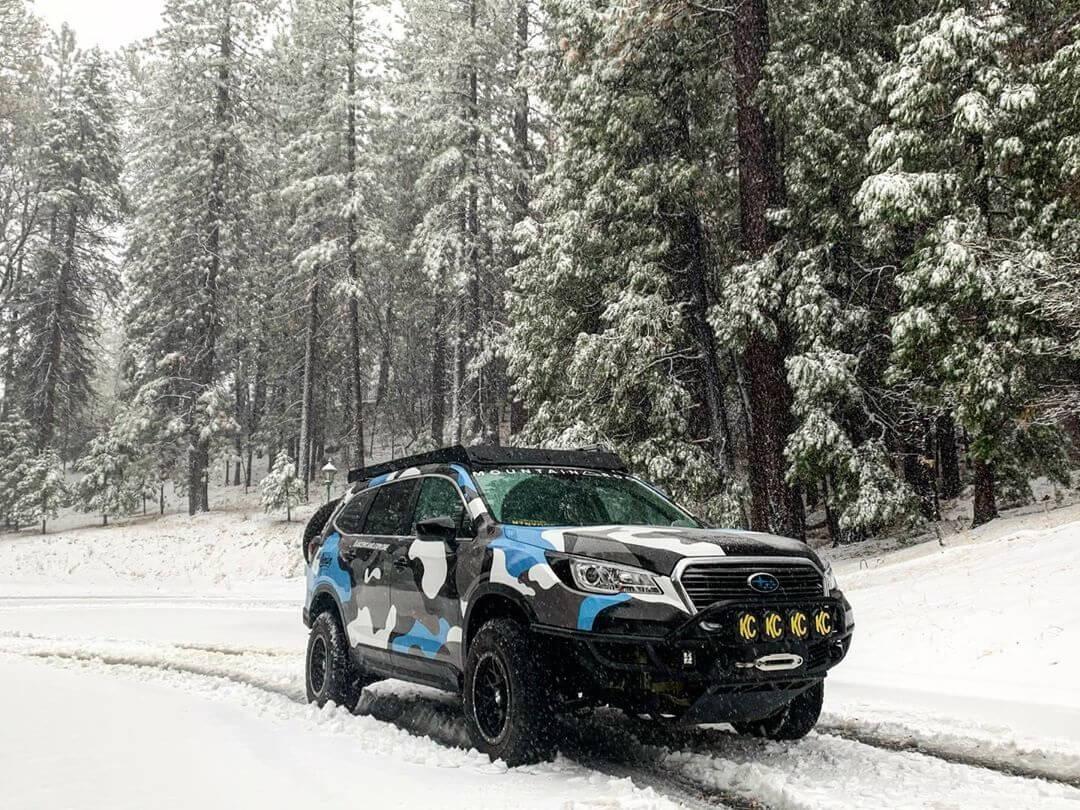 Subaru Ascent 4 inch lift 265/75R17 Goodyear Wrangler tires