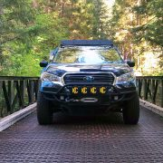 Front winch bumper and a skid plate custom made by Stellarbuilt