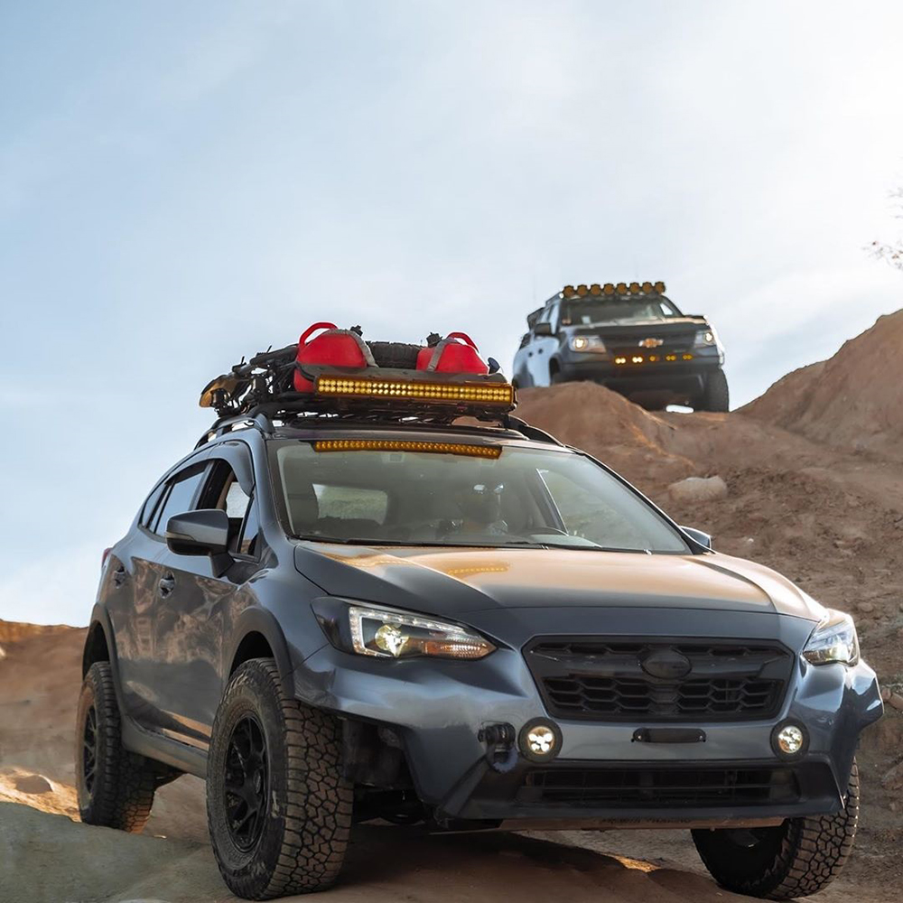 """Subaru Crosstrek on KMC 708 Bully in matte black- 15"""". My tires are Falken Wildpeak at3 235/75R15"""