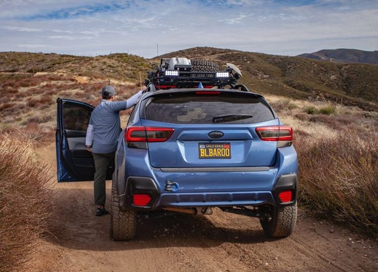 Lifted Subaru Crosstrek overland off-road project
