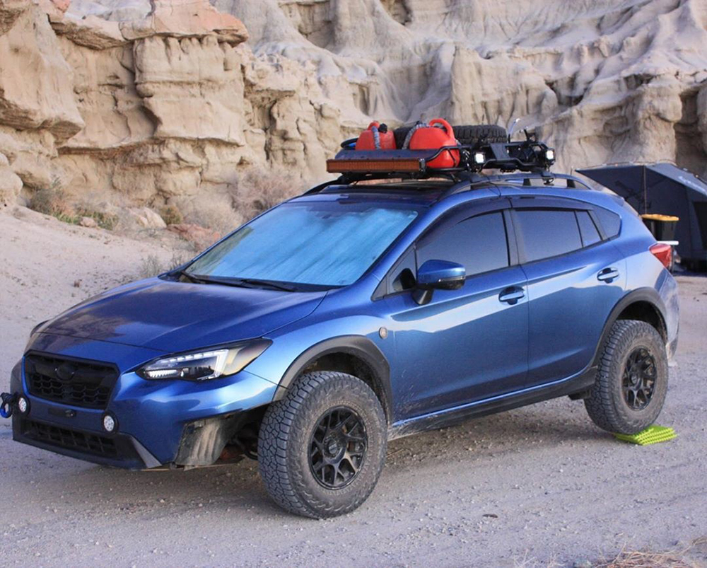 Subaru Crosstrek Overland roof rack cargo basket